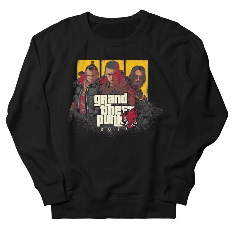 Grand Theft Punk Men's French Terry Sweatshirt by Red Bug's Artist Shop