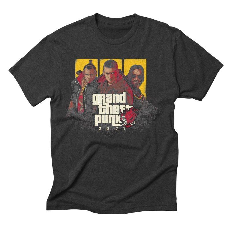 Grand Theft Punk Men's Triblend T-Shirt by Red Bug's Artist Shop