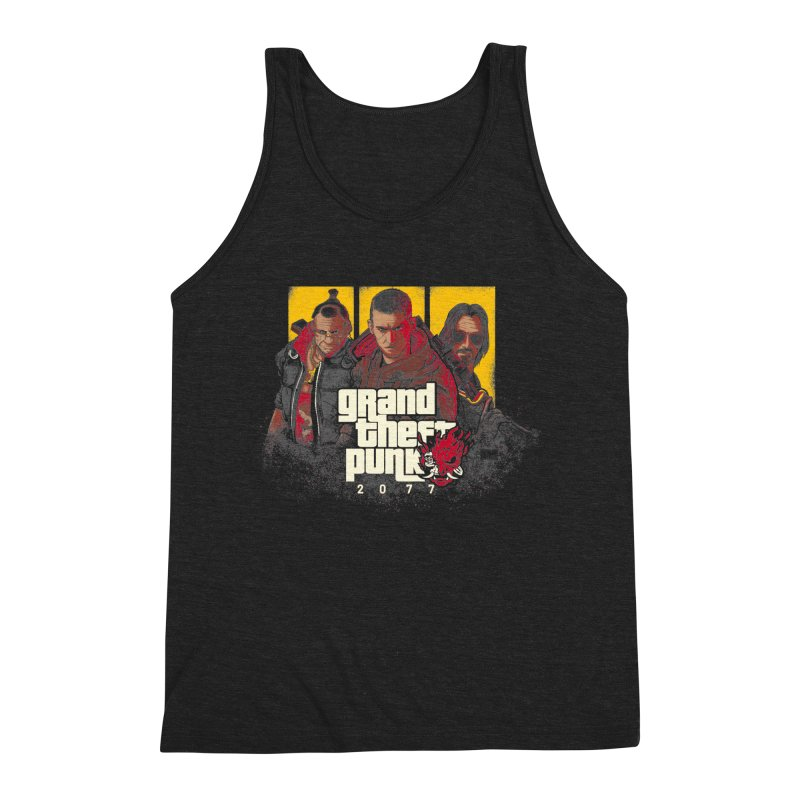 Grand Theft Punk Men's Triblend Tank by Red Bug's Artist Shop