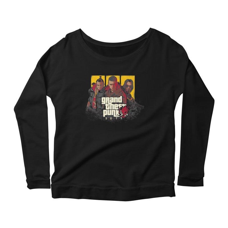 Grand Theft Punk Women's Scoop Neck Longsleeve T-Shirt by Red Bug's Artist Shop