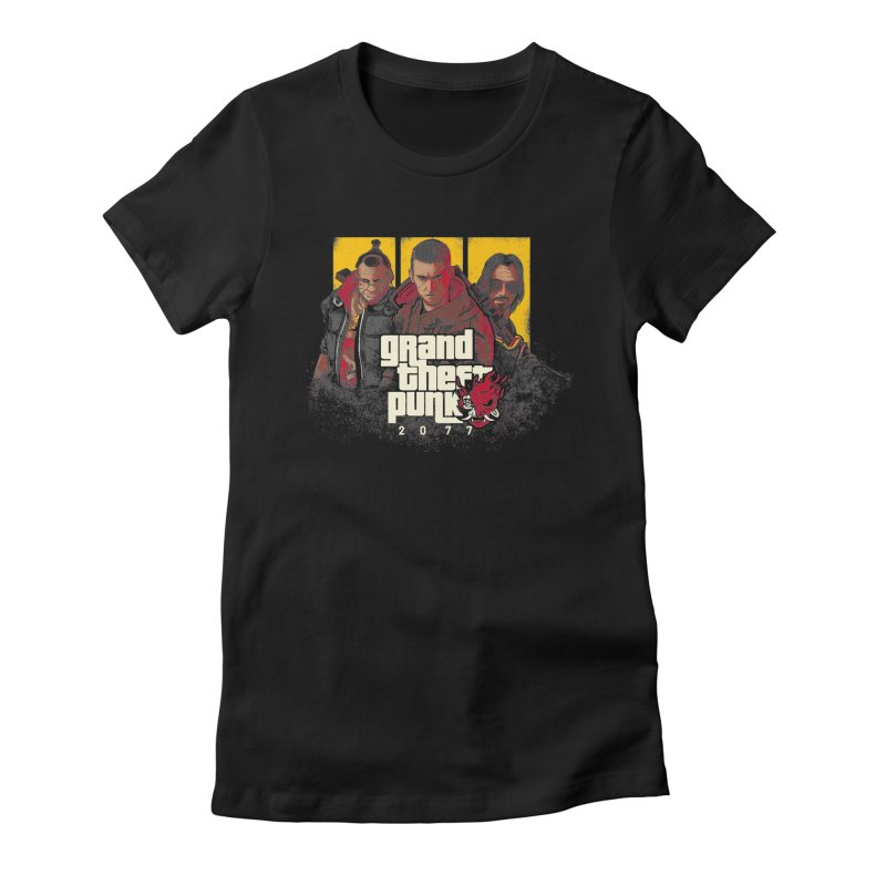 Grand Theft Punk Women's Fitted T-Shirt by Red Bug's Artist Shop
