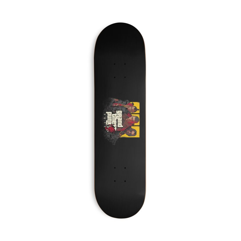 Grand Theft Punk Accessories Deck Only Skateboard by Red Bug's Artist Shop
