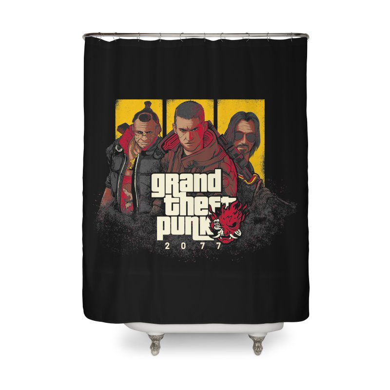 Grand Theft Punk Home Shower Curtain by Red Bug's Artist Shop