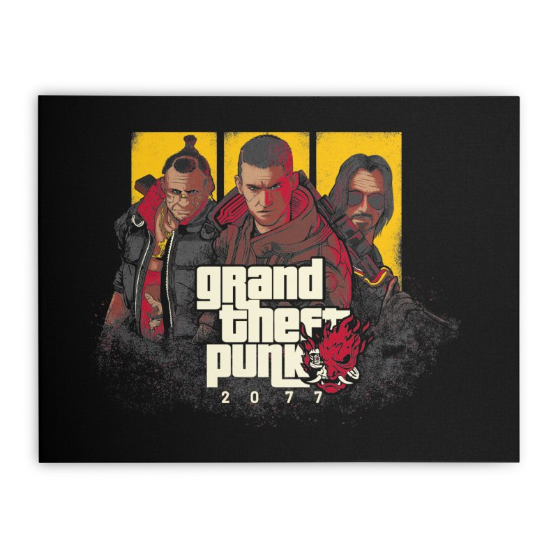 Grand Theft Punk Home Stretched Canvas by Red Bug's Artist Shop