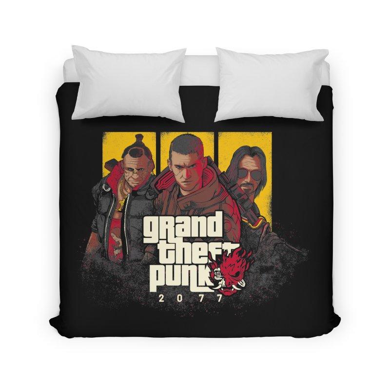 Grand Theft Punk Home Duvet by Red Bug's Artist Shop