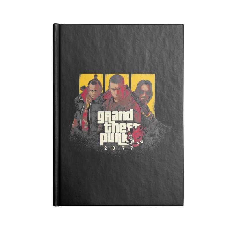 Grand Theft Punk Accessories Blank Journal Notebook by Red Bug's Artist Shop
