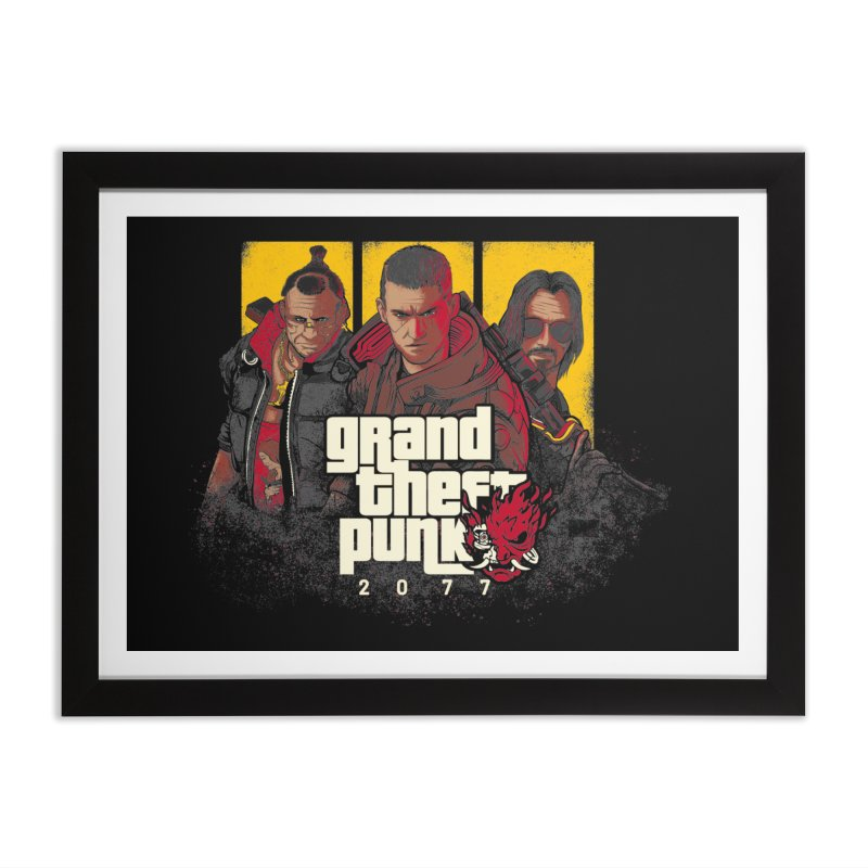 Grand Theft Punk Home Framed Fine Art Print by Red Bug's Artist Shop