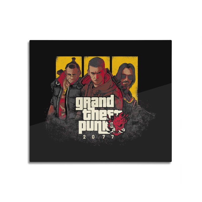 Grand Theft Punk Home Mounted Aluminum Print by Red Bug's Artist Shop