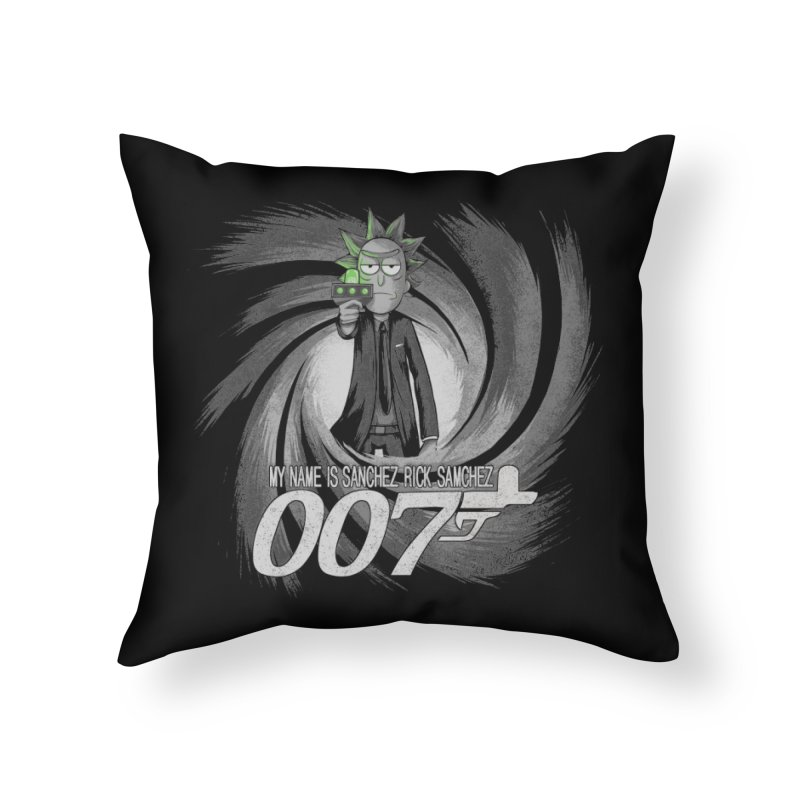 00Rick Home Throw Pillow by Red Bug's Artist Shop