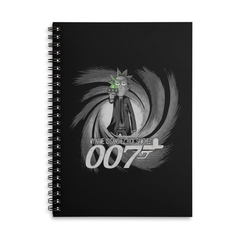 00Rick Accessories Lined Spiral Notebook by Red Bug's Artist Shop