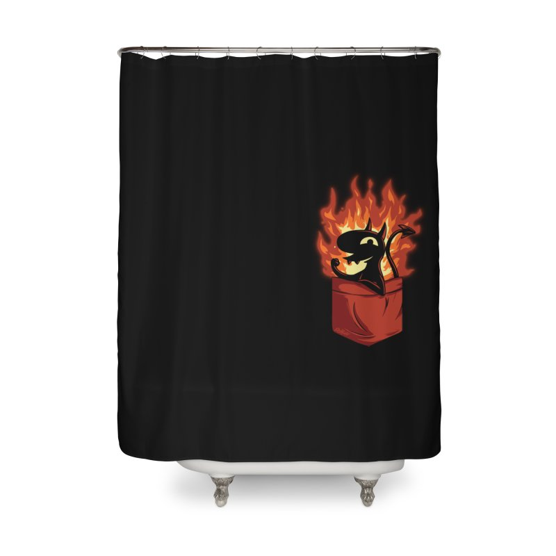 Do It! Home Shower Curtain by Red Bug's Artist Shop