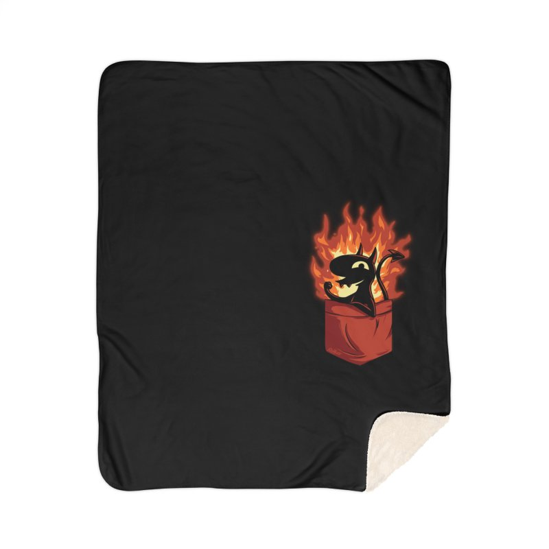 Do It! Home Sherpa Blanket Blanket by Red Bug's Artist Shop