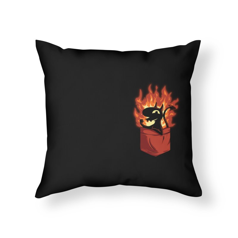 Do It! Home Throw Pillow by Red Bug's Artist Shop