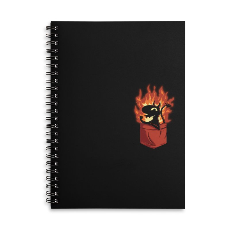 Do It! Accessories Lined Spiral Notebook by Red Bug's Artist Shop