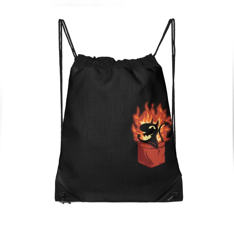 Do It! Accessories Drawstring Bag Bag by Red Bug's Artist Shop