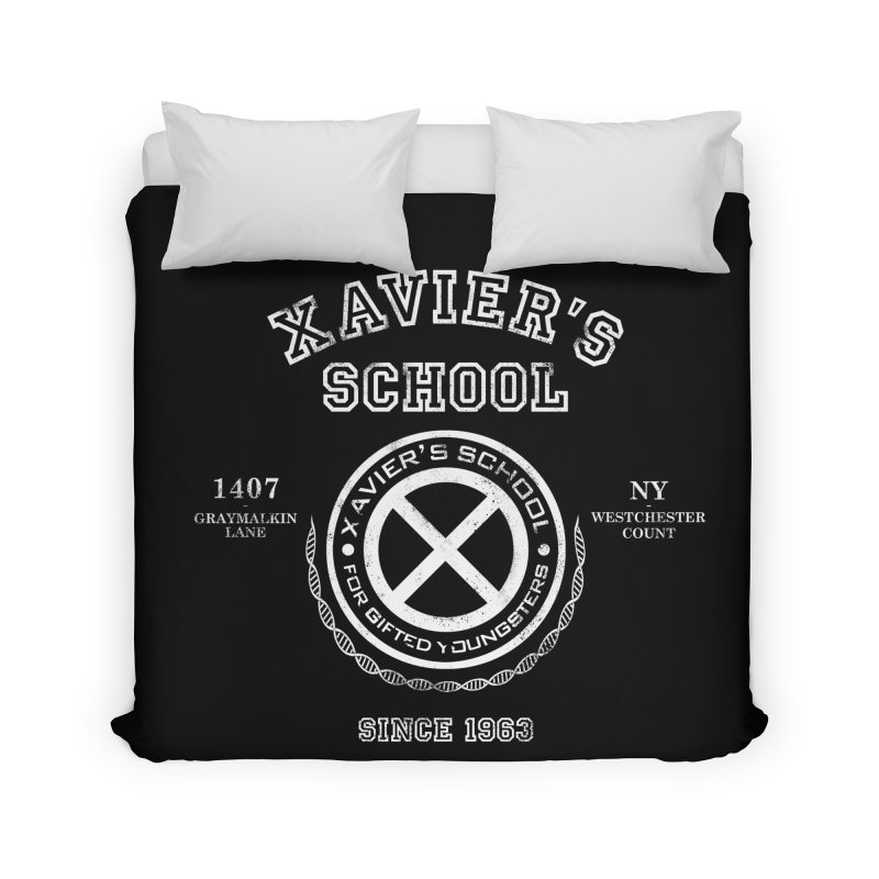 Xavier's School Home Duvet by Red Bug's Artist Shop