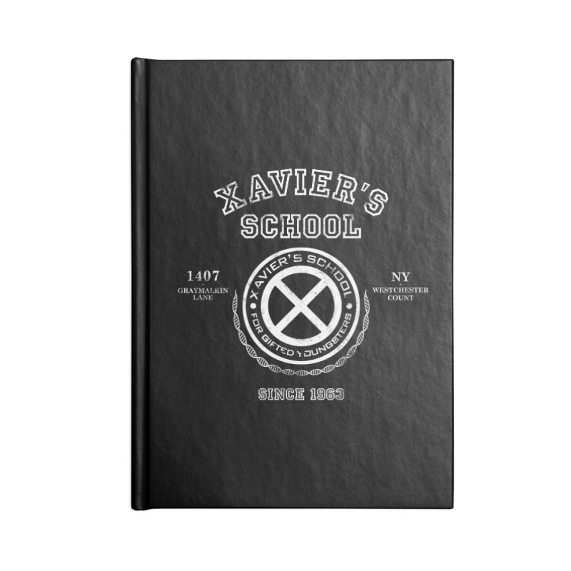 Xavier's School Accessories Lined Journal Notebook by Red Bug's Artist Shop
