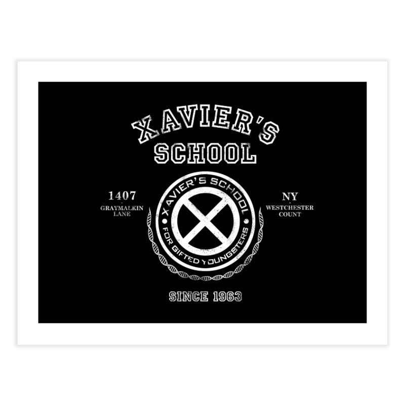 Xavier's School Home Fine Art Print by Red Bug's Artist Shop