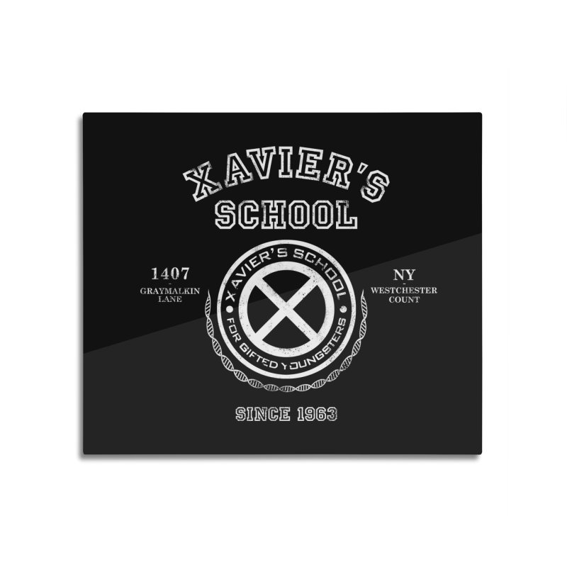 Xavier's School Home Mounted Aluminum Print by Red Bug's Artist Shop