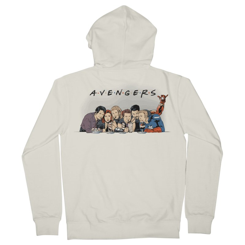 Avengers Men's French Terry Zip-Up Hoody by Red Bug's Artist Shop