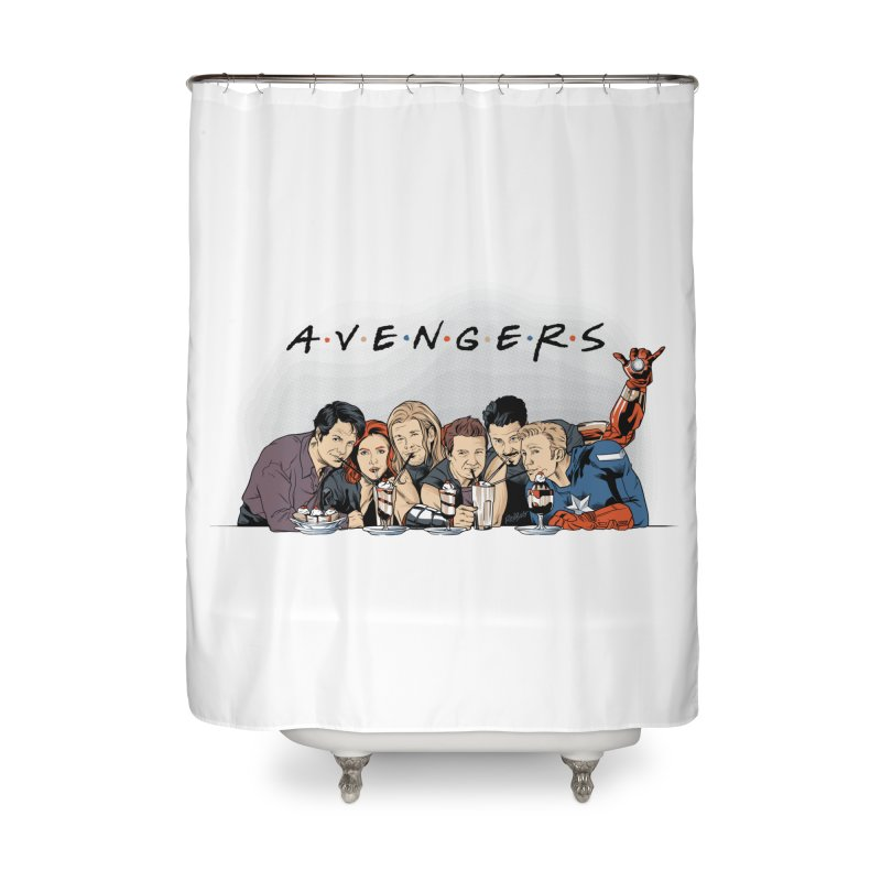 Avengers Home Shower Curtain by Red Bug's Artist Shop