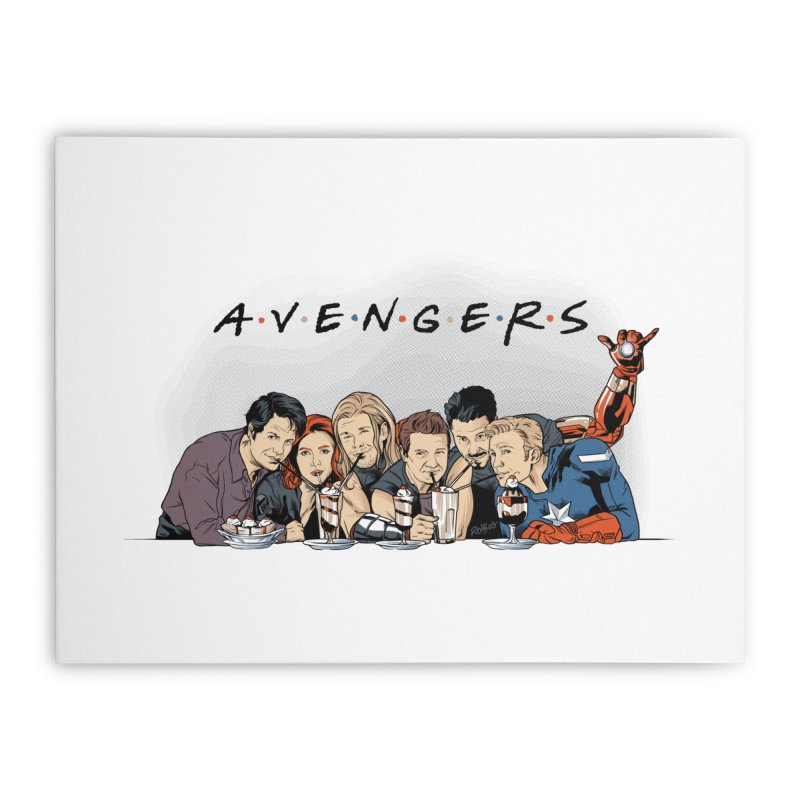 Avengers Home Stretched Canvas by Red Bug's Artist Shop