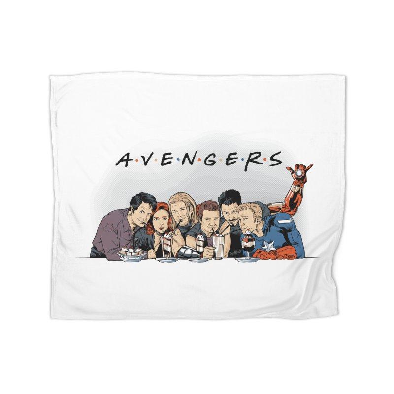 Avengers Home Fleece Blanket Blanket by Red Bug's Artist Shop