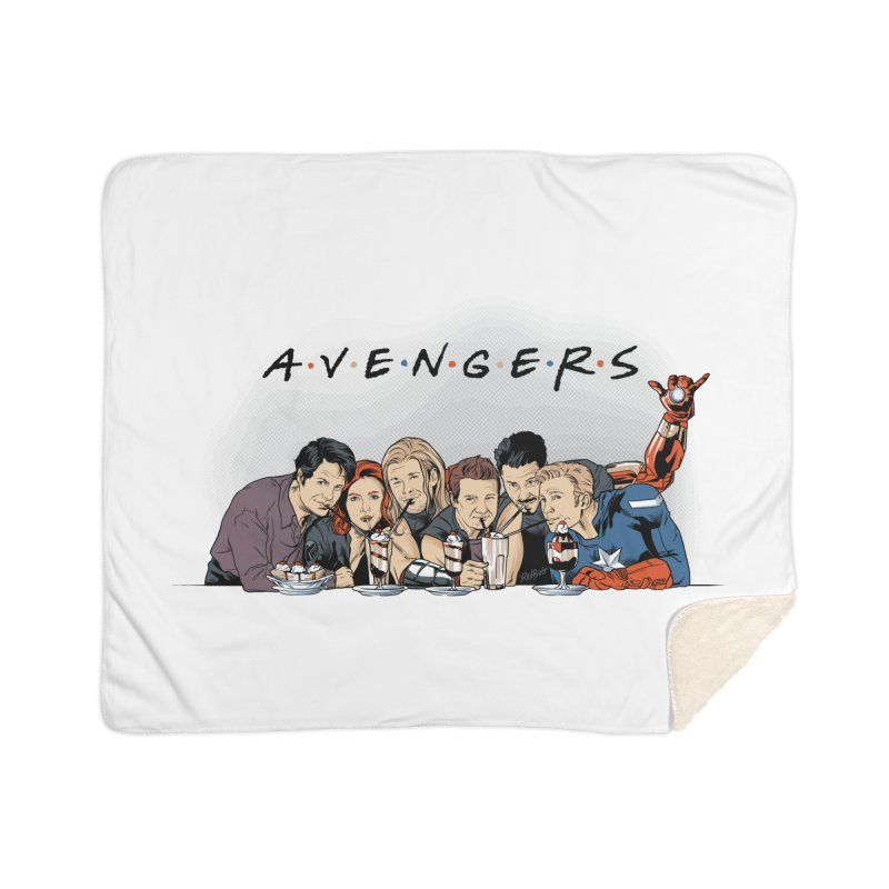 Avengers Home Sherpa Blanket Blanket by Red Bug's Artist Shop