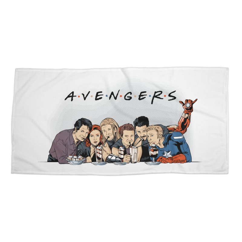 Avengers Accessories Beach Towel by Red Bug's Artist Shop