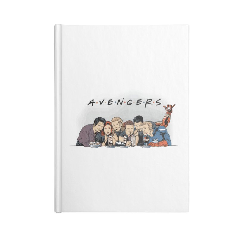 Avengers Accessories Lined Journal Notebook by Red Bug's Artist Shop