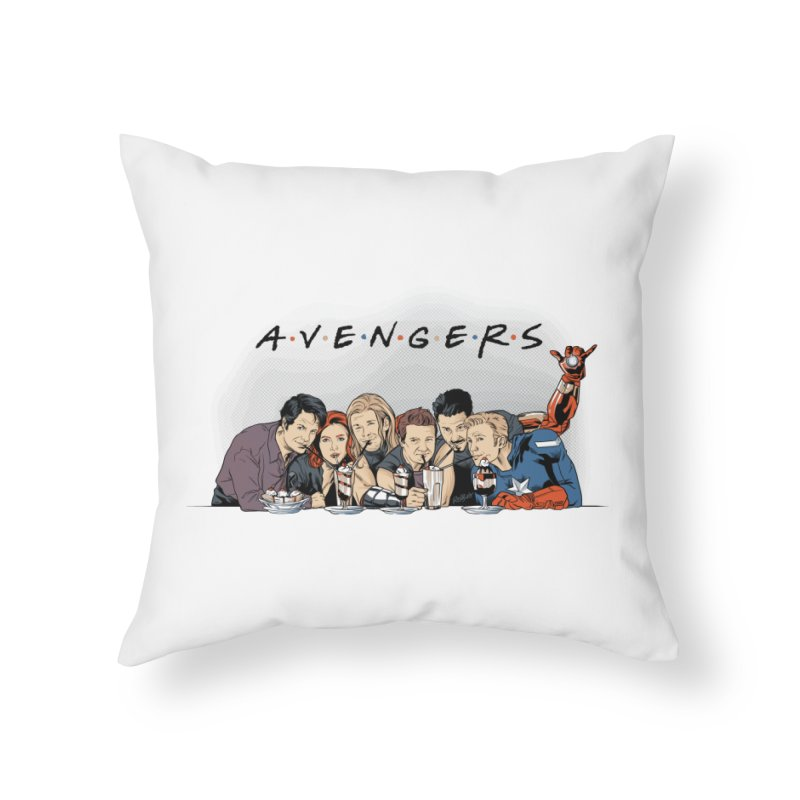 Avengers Home Throw Pillow by Red Bug's Artist Shop