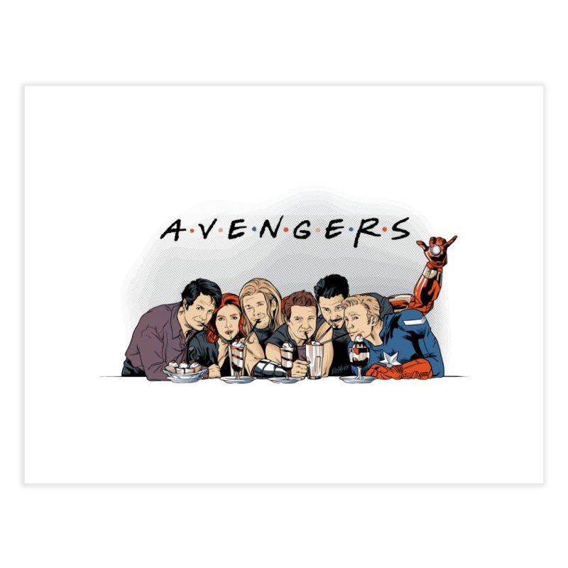 Avengers Home Fine Art Print by Red Bug's Artist Shop
