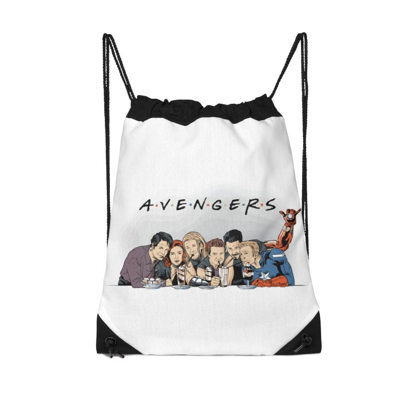 Avengers Accessories Drawstring Bag Bag by Red Bug's Artist Shop