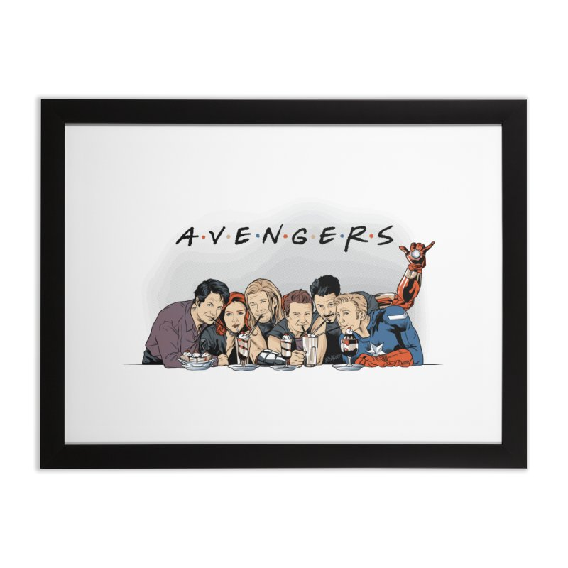 Avengers Home Framed Fine Art Print by Red Bug's Artist Shop