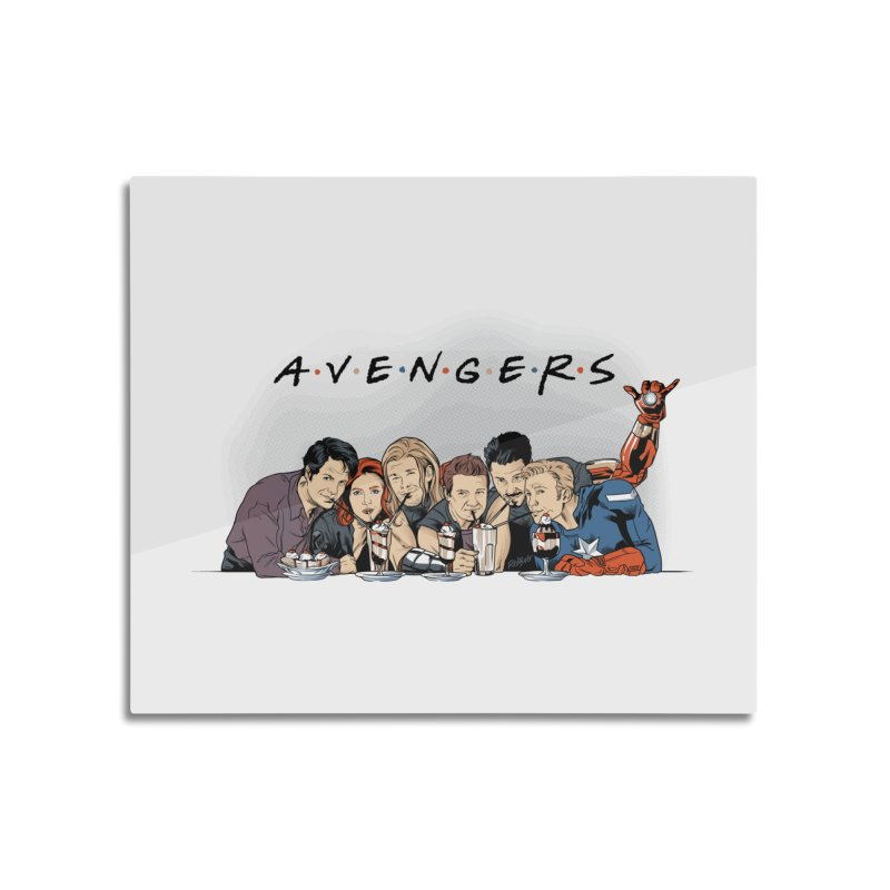 Avengers Home Mounted Aluminum Print by Red Bug's Artist Shop