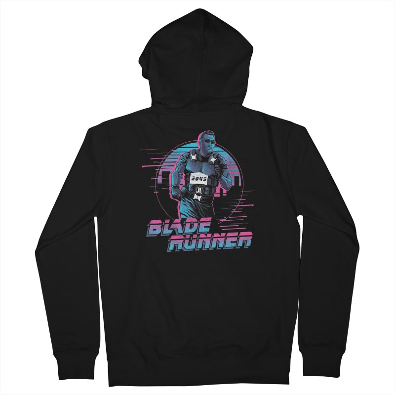Blade Runner Men's French Terry Zip-Up Hoody by Red Bug's Artist Shop