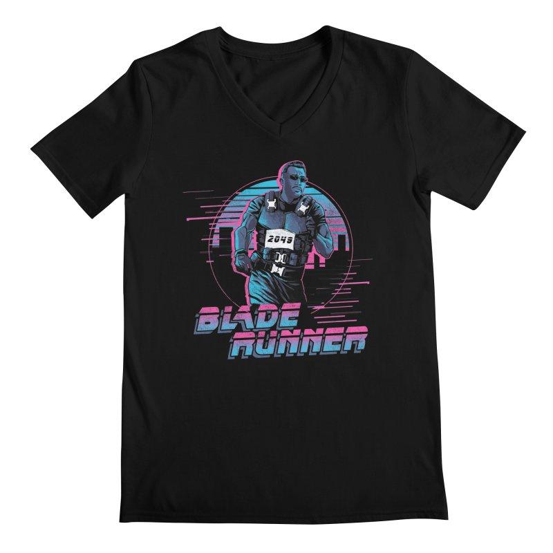 Blade Runner Men's Regular V-Neck by Red Bug's Artist Shop
