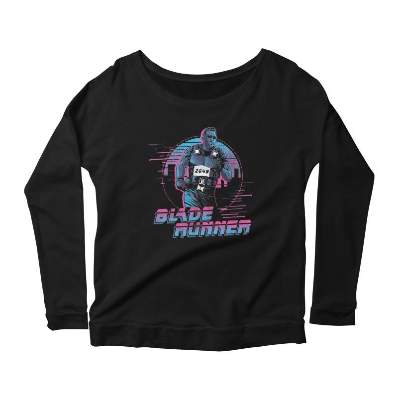 Blade Runner Women's Scoop Neck Longsleeve T-Shirt by Red Bug's Artist Shop