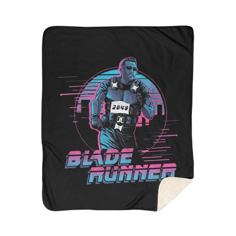 Blade Runner Home Sherpa Blanket Blanket by Red Bug's Artist Shop
