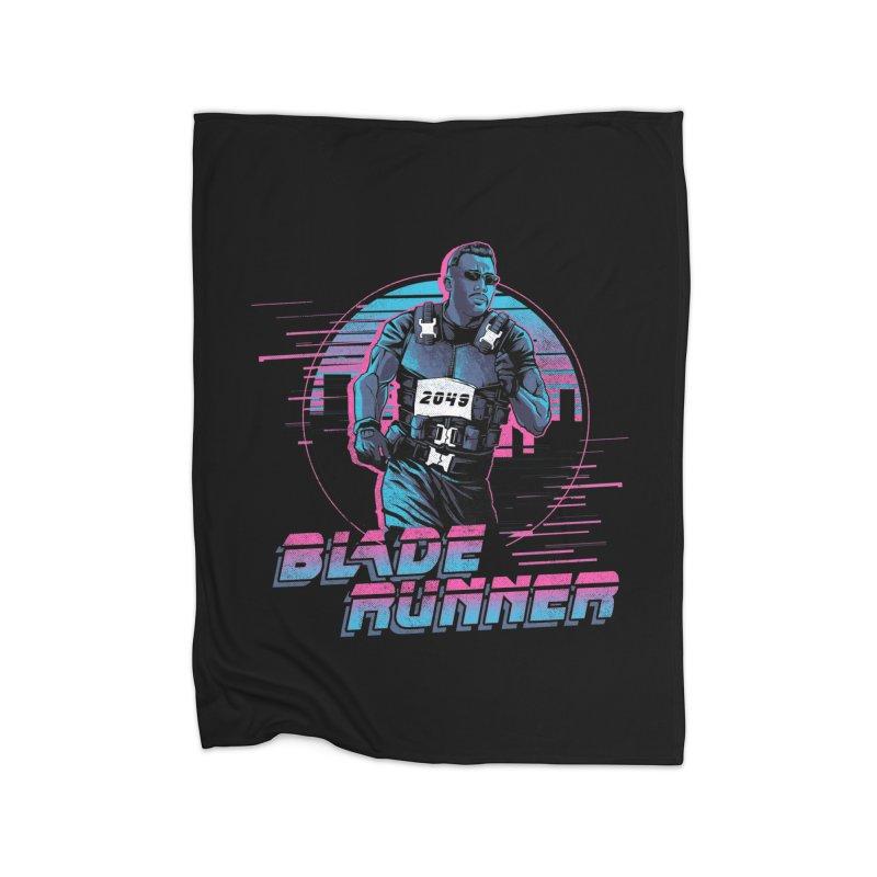 Blade Runner Home Fleece Blanket Blanket by Red Bug's Artist Shop