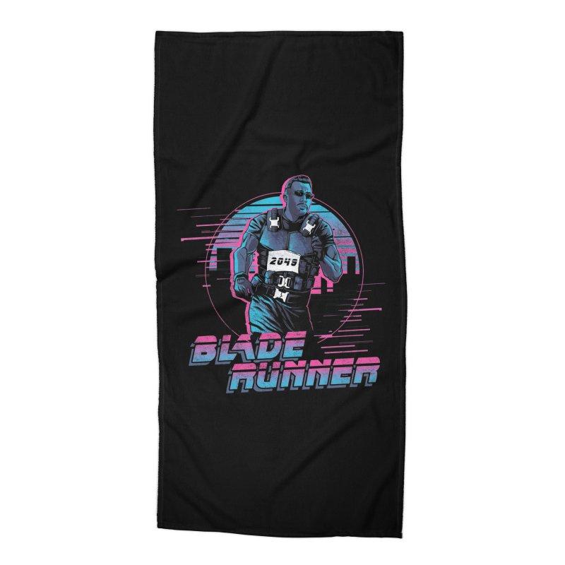 Blade Runner Accessories Beach Towel by Red Bug's Artist Shop