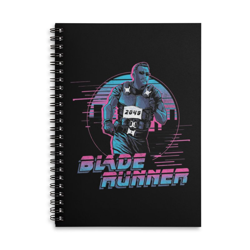 Blade Runner Accessories Lined Spiral Notebook by Red Bug's Artist Shop