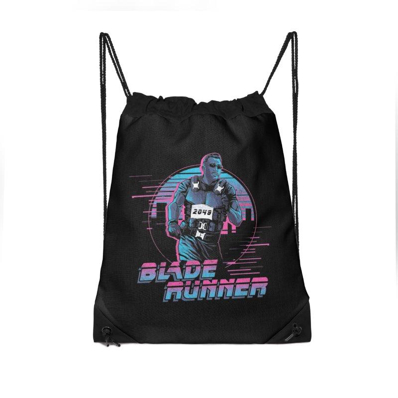 Blade Runner Accessories Drawstring Bag Bag by Red Bug's Artist Shop