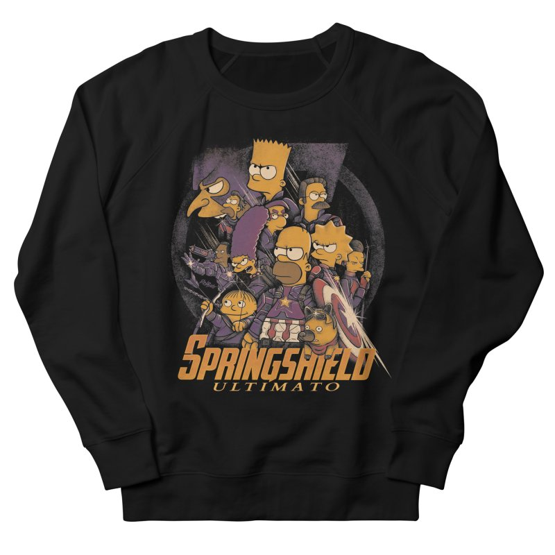 Springshield Men's French Terry Sweatshirt by Red Bug's Artist Shop