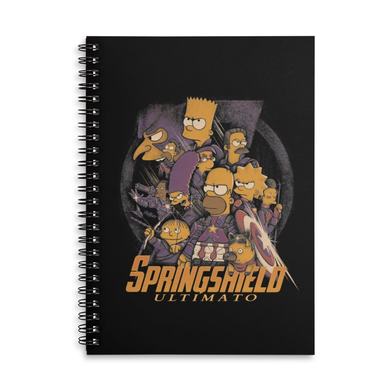 Springshield Accessories Lined Spiral Notebook by Red Bug's Artist Shop