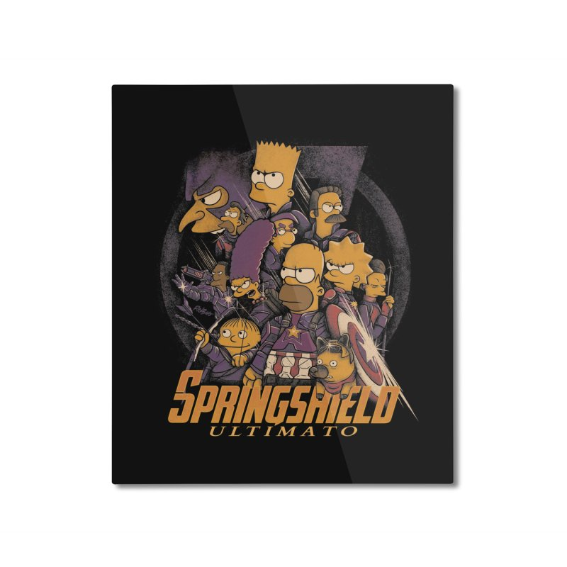 Springshield Home Mounted Aluminum Print by Red Bug's Artist Shop