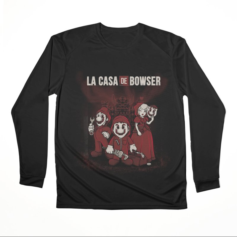 La Casa de Bowser Women's Performance Unisex Longsleeve T-Shirt by Red Bug's Artist Shop