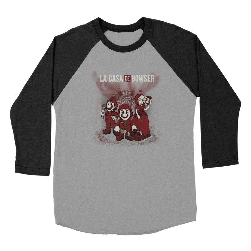 La Casa de Bowser Men's Baseball Triblend Longsleeve T-Shirt by Red Bug's Artist Shop