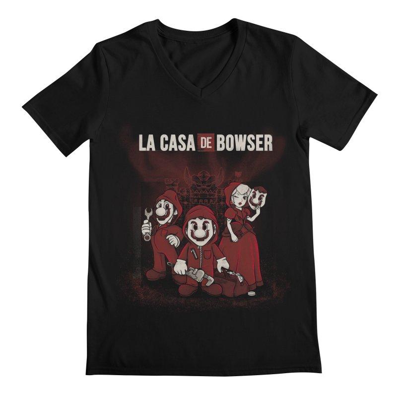 La Casa de Bowser Men's Regular V-Neck by Red Bug's Artist Shop