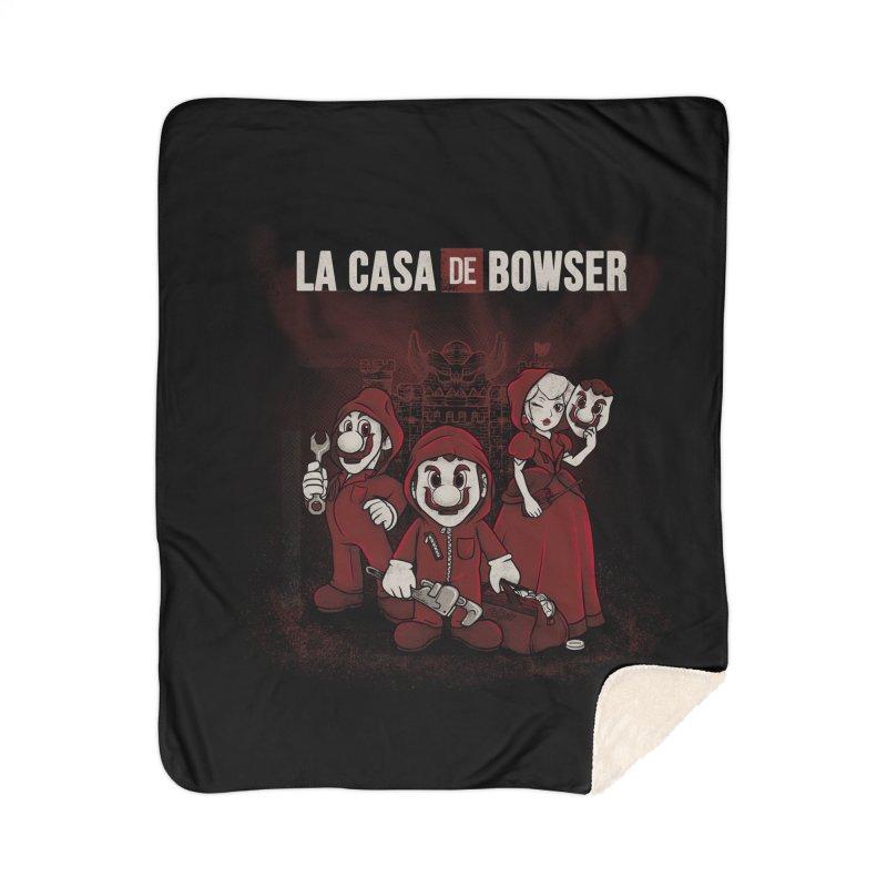 La Casa de Bowser Home Sherpa Blanket Blanket by Red Bug's Artist Shop